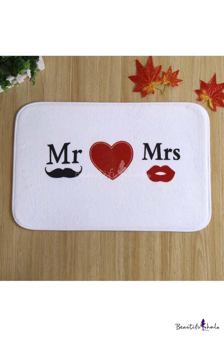 Buy Fashion Mr Love Mrs Doormat Bathroom Mats Rubber Non Slip