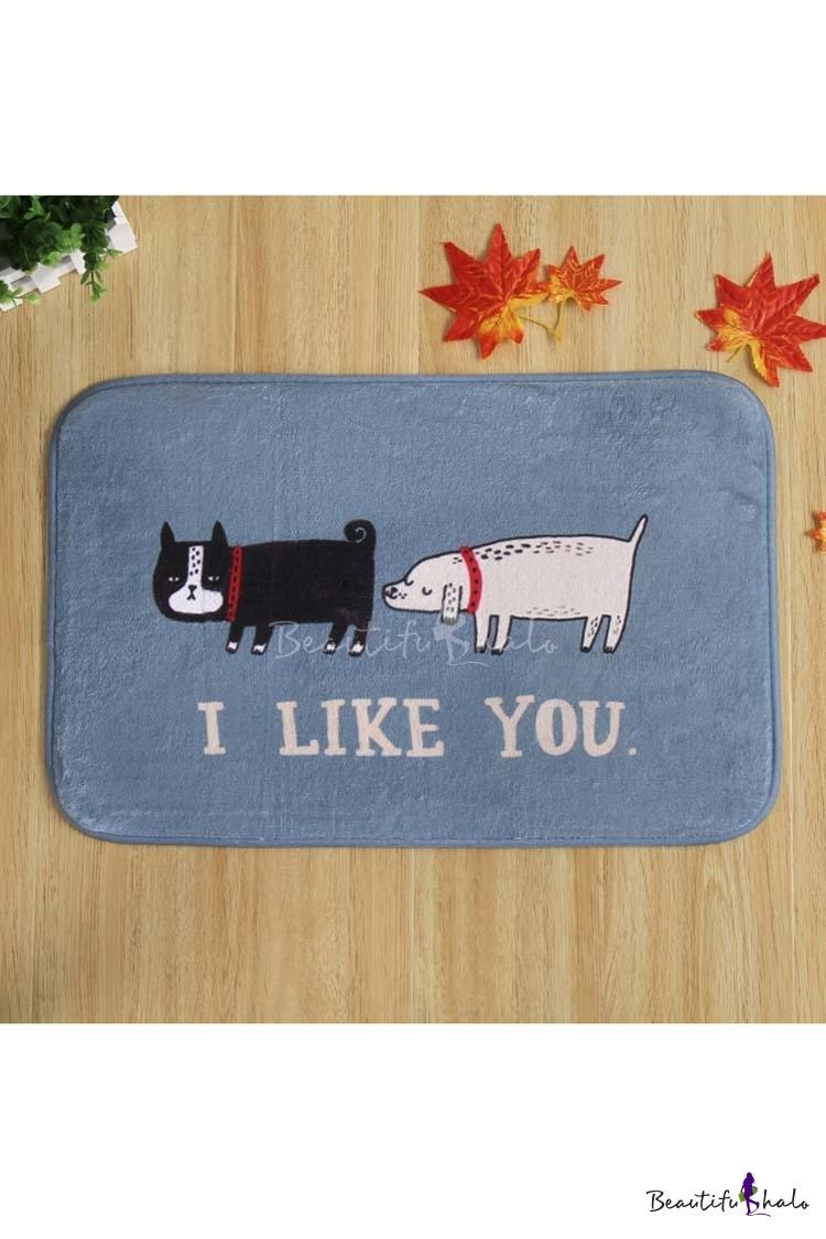 Buy LIKE YOU Cute Dogs Print Doormat Indoor/Outdoor/Front Door/Bathroom Mats Rubber Non Slip