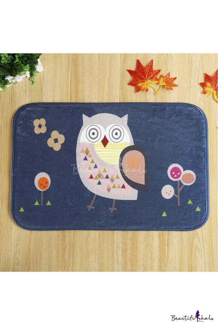 Buy Fashion Cute Owl Pattern Entrance Mat Indoor/Outdoor/Front Door/Bathroom Mats Non Slip