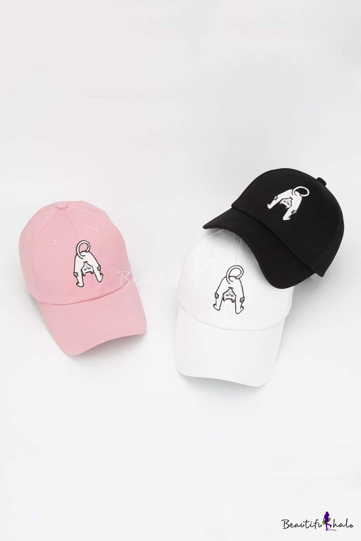Unisex Fashion Cat Embroidered Leisure Baseball Caps Outdoor Caps