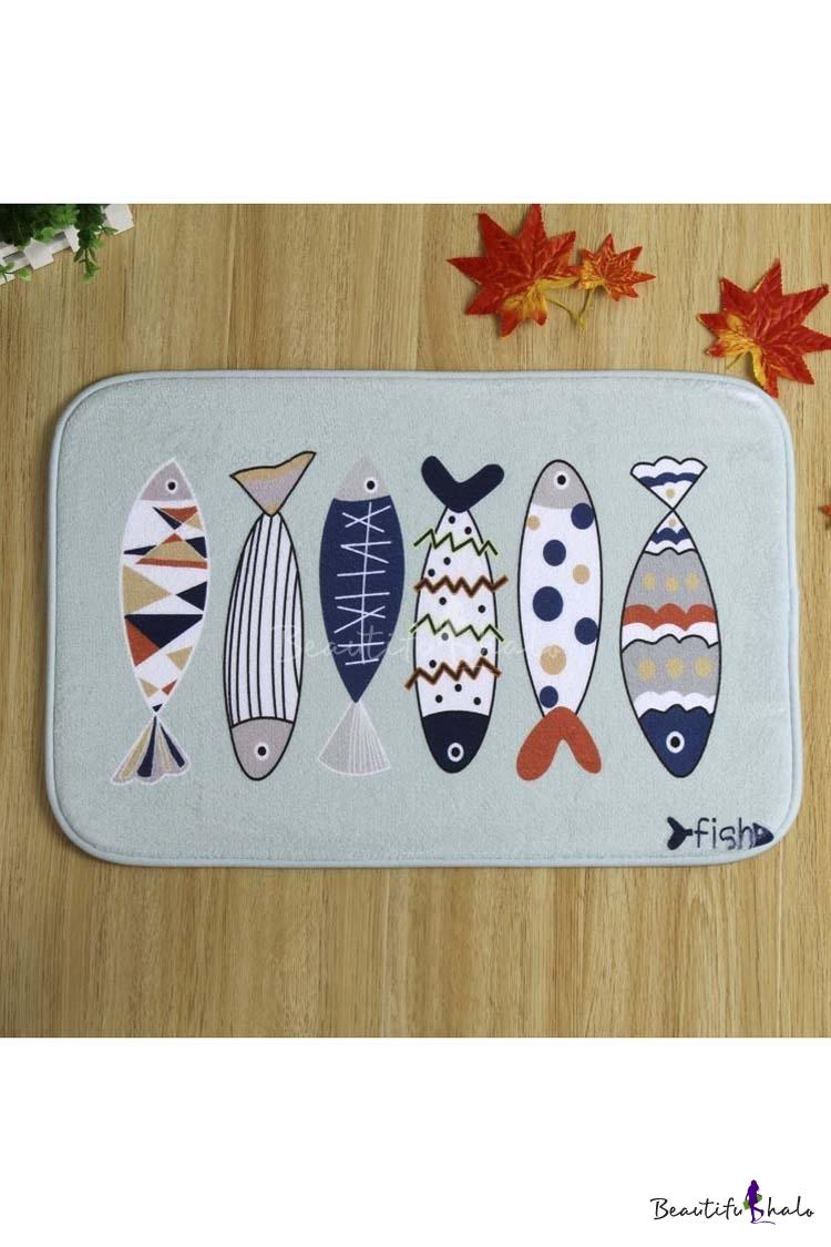 Buy Cute Fish Design Doormat Indoor/Outdoor/Front Door/Bathroom Mats Rubber Non Slip