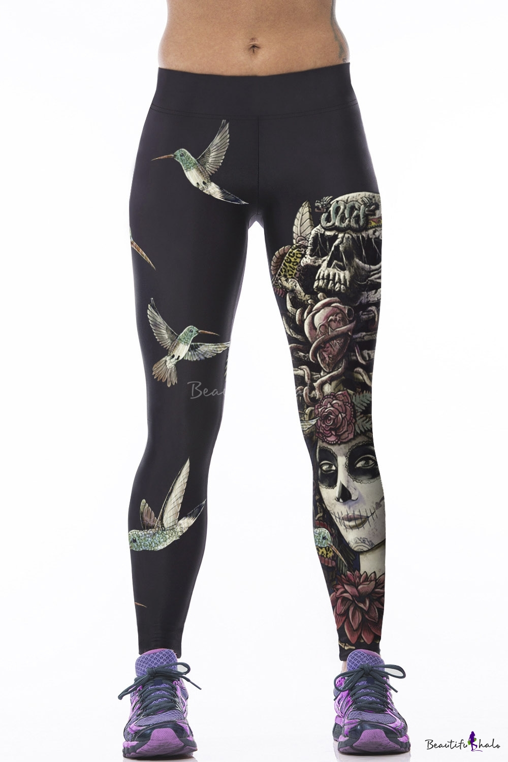 Buy Womens Galaxy Star Printed High Waist Leggings Pants