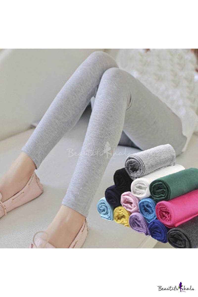 Buy 2016 Fashion Plain Leisure Leggings