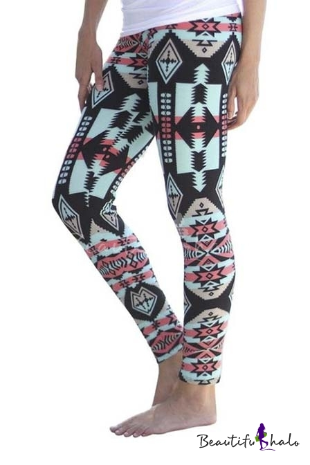 Buy Women Leggings Print Stretchy Casual Skinny Pants