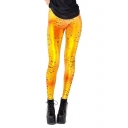 Golden Bubbles Print Length Leggings in Color Block