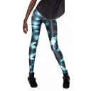 Allover Jelly Fish Print High Waist Leggings