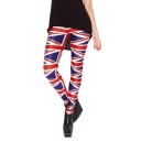 Flag of UK Print Skinny Elastic Leggings