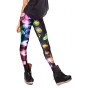 Colorful Jelly Fish Print Elastic Leggings