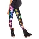 Colorful Jelly Fish Print Elastic Leggings