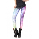 Color Chart Print Full Length Elastic Leggings