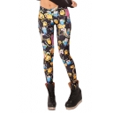 Various Cute Cartoon Pattern Elastic Leggings