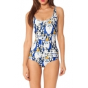 Attractive One Piece Swimsuit in Cute Cartoon Animal Print