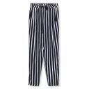 Vertical Stripe Print Drawstring Waist Pants