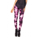 Jelly Fish Print Full Length Elastic Leggings
