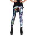 Colorful Cartoon Pattern in a Story Elastic Leggings