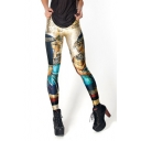 Ancient Egyptians Print High Waist Elastic Leggings