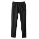 Elastic Waist Plain Pant with Zipper Pockets