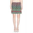 Colorful Tribal Print Mini Bodycon Skirt