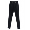 Double Zip Detail High Waist Skinny Pants