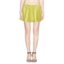Plain Zipper-side Pleated Chiffon  Skort
