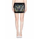 Must Have Studded Pattern Bodycon Mini Skirt