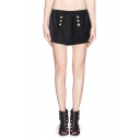 Special Button Fly Zip Back High Waist Shorts