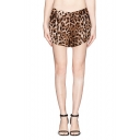 Leopard Print Wide Leg Shorts with Pockets