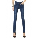 Stitch Detail Zip Detail Pocket Back Skinny Jeans