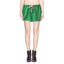 Candy-color Drawstring Waist Hotpant Shorts with Pocket