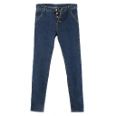 Four-Button Fly Concise Skinny Jeans in Seam Detail
