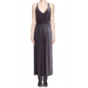 Halter Neck Open Back Elastic Waist Wide Leg Jumpsuit