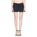 Polka Dot Zip Fly Shorts in Skinny Fit
