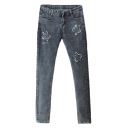 Lovely Patch Embellished Mid Rise Jeans in Skinny Fit