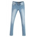 Light Wash Mild Rips Faded Slim Jeans