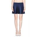Minimalist Plain A-line Zip Side Skirt