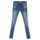 New Look Ripped Light Wash Mid Rise Jeans