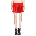 New Style Embossed Print High Waist Shorts in Cotton-blend