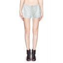 Mid Waist Embroidered Culotte Shorts with Pocket
