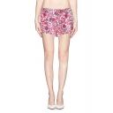 Elegant Floral Print Chiffon Culotte Shorts for Summer
