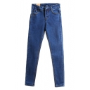 Vintage Seam Detail Skinny Jeans with Pocket