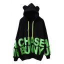 New Style Letter Print Long Sleeve Loose Hoodie