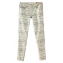 Ikat Print Cotton Harem Pants with Low Rise