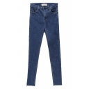 Skinny Zip Fly Jeans with High Rise