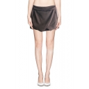 Plain Origami Layered Skort with Zip Back
