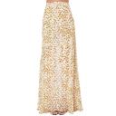 Elegant High Waist Maxi Skirt in Floral Print