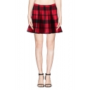 Three Color Block Pleated Short Trumpet Skirt