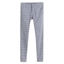 Fitted Polka Dot Print Pencil Pant with Zipper Fly