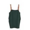 Plain Vintage Pockets Short Dress
