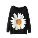 Floral Print Round Neck Raglan Sleeve Sweatshirt