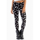 Street Style Gun Collections Pattern Skinny Leggings